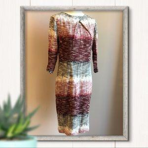 NY&CO 3/4 Sleeve Tweed Career Sheath Dress Size S